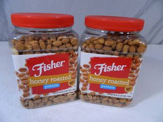 4 lbs 8 oz of Fisher Honey Roasted Peanuts