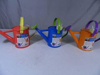 3 New Metal Kids DIY Watering Can Sets