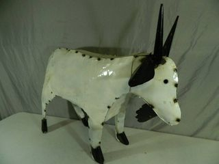 Recycled Metal Large Goat
