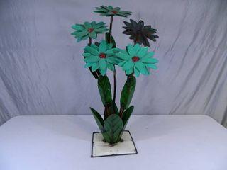 New Large Recycled Metal Garden Art Flower