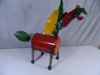 New Large Recycled Metal Garden Art Donkey / Horse