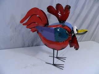 New Recycled Metal Garden Art Bird