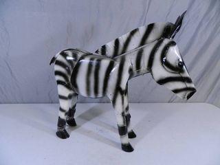New Recycled Metal Garden Art Zebra