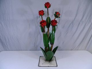 New Large Recycled Metal Garden Art Flowers / Roses