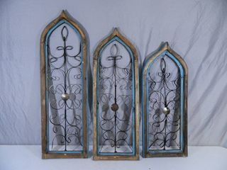 3 New Recycled Wood Window Frames / Decor