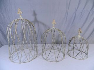 3 New Recycled Metal Shabby Chic Style Decorations / Vine Trellis