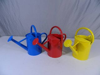 3 New Metal Watering Cans