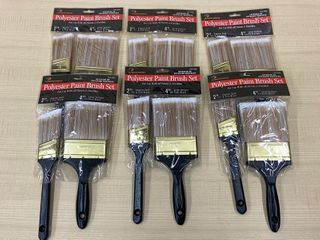 (6) New 2-Packs Of Painters Brushes