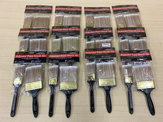 (12) New 2-Packs Of Painters Brushes
