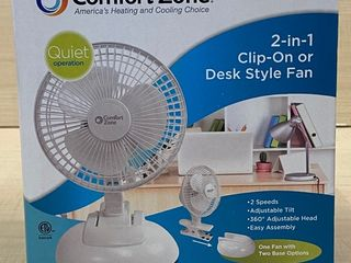 New Comfort Zone 2-in-1 Desk Fan
