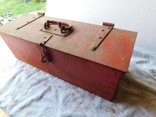 Vintage tractor toolbox