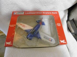 Die Cast Airplane Coin Bank   NEW