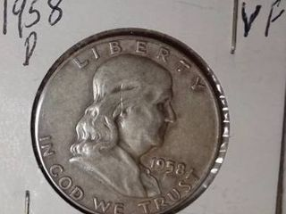 1958 D Franklin Half Dollar
