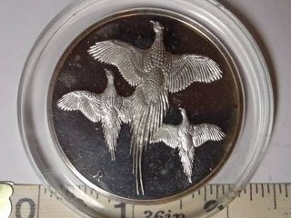 Franklin Mint Ringnecked Pheasants Coin