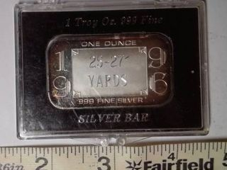 1 troy oz  Silver  1996  25 27  yards