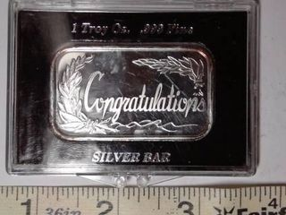 1 troy oz  Silver   Congratulations