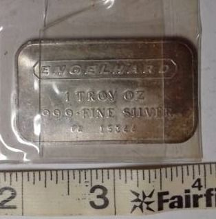 1 troy oz  Silver   Engelhard  Bar