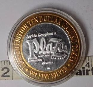 10 Gaming Token   Plaza  Silver