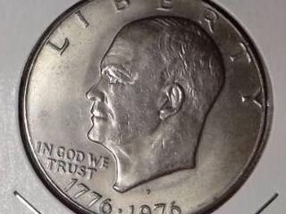 1776 1976 D Eisenhower Dollar