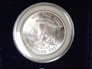 1 troy oz  Silver   Silver Trade Unit  UNC with case