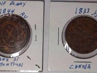 1823  1844 Half Pennies