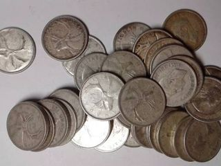 40x Canadian Quarters  1937 1966