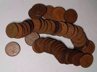 50x Canadian Pennies  1940 1970