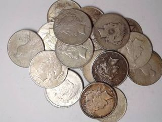 20x Peace Silver Dollars  Mixed Dates and Mints