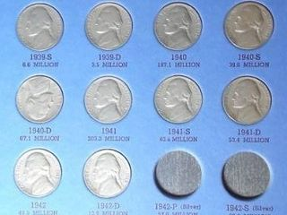Jefferson Nickel Book  1935 and up  45 Nickels