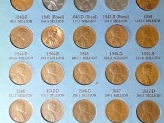 lincoln Head Cent Book  1941   up  51 Pennies
