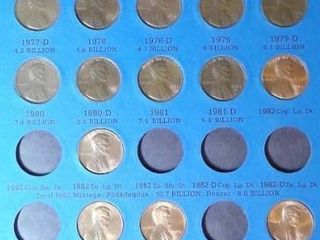 lincoln Head Cent Book  1975   up  25 Pennies
