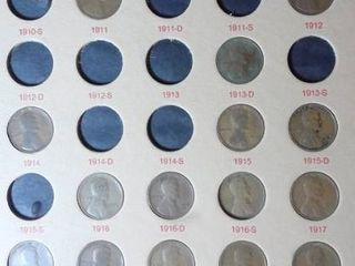 lincoln Head Cent Wheat Penny Book  1909 1945   72 Pennies