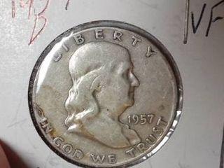 1957-D Franklin Half Dollar