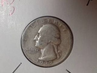 1937 D Washington Quarter
