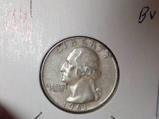 1961 D Washington Quarter