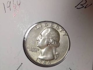 1964 D Washington Quarter