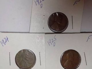 1922  1924  1925 Wheat Pennies