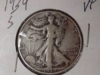 1939 S Walking liberty Half Dollar