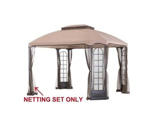 Sunjoy Replacement Mosquito Netting for Terrace Gazebo  10 X12  l GZ454PST C