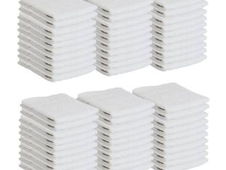 Arkwright White Terry Cotton Washcloths  12x12 in  60 Pack    12 x 12 in