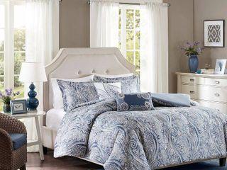 Harbor House Stella 5PC Paisley Print Full Queen Duvet Set Bedding
