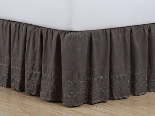 Fresh Ideas King Ruffles Eyelet Bed Skirt  1 Each