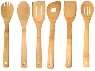 Home Basics Bamboo Kitchen Cutlery Tool Set  6 Piece