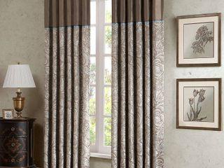 Set of 2 84 x50  Valerie Window Curtain Panel Taupe