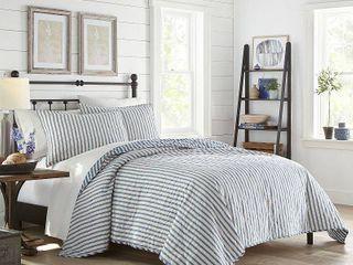 Stone Cottage Willow Way Ticking Stripe King Quilt Set Bedding