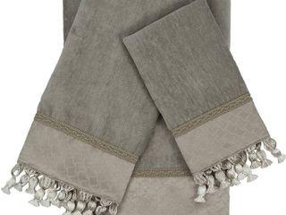 Sherry Kline Rochdale 3piece Embellished Towel Set  Grey  3 Piece