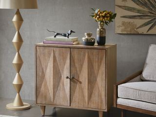 Carson Carrington Paide Brown 2 door Accent Cabinet