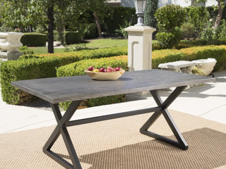 Rolando Outdoor Aluminum Picnic Dining Table by Christopher Knight Home   Grey