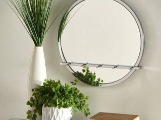 Carson Carrington Tinalampi Silvio Chrome Round Wall Mirror