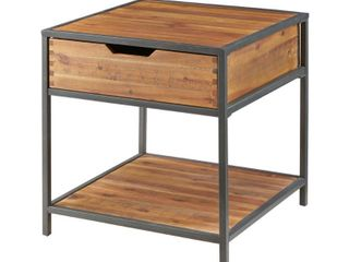Madison Park Ryker Natural Graphite End Table